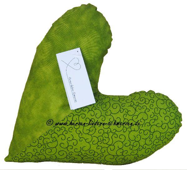 Herzkissen grün