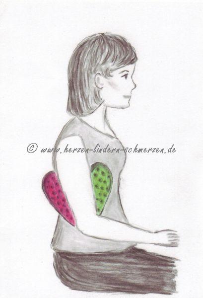 Herzkissen Brustkrebs | Herzen lindern Schmerzen